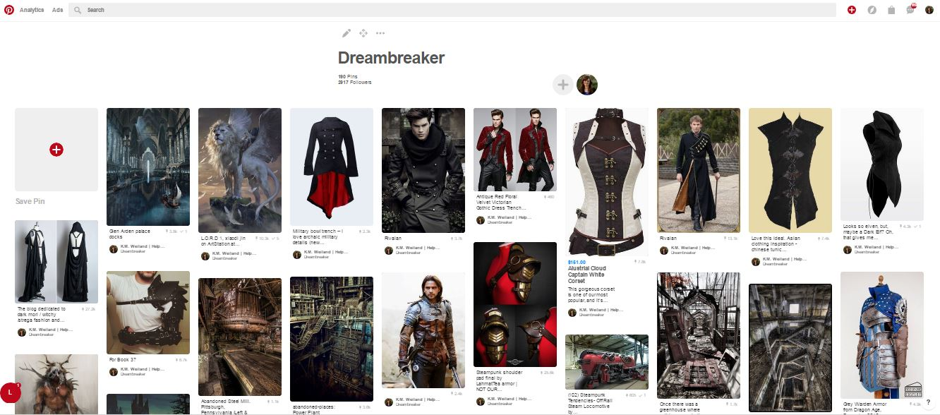 Dreambreaker Pinterest Board