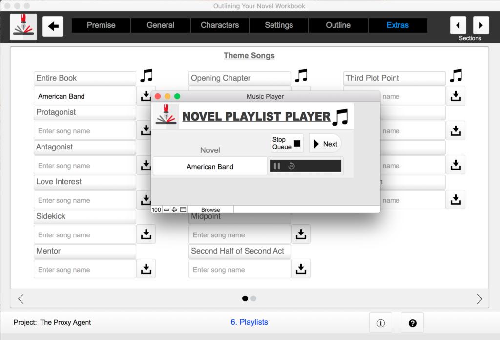 Outlining Your Novel Workbook Computer Program Playlist Player