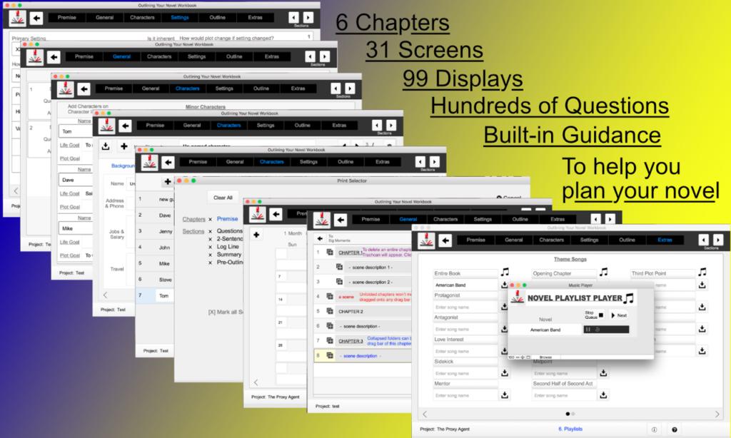 Montage Outlining Your Novel Workbook software