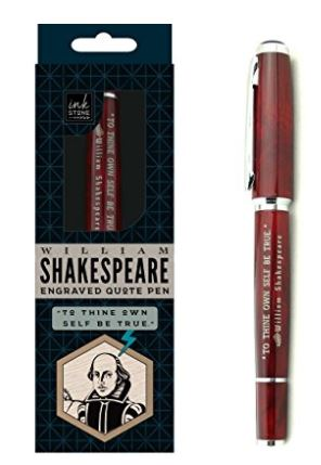 12 SHakespeare Quote Pen