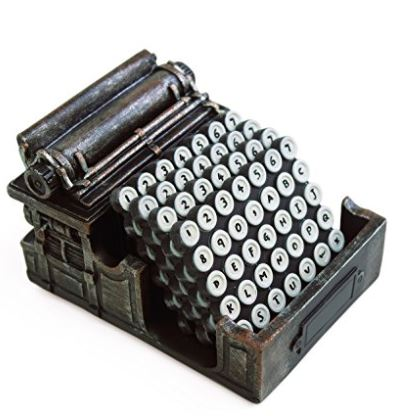 5 Typewriter Coasters