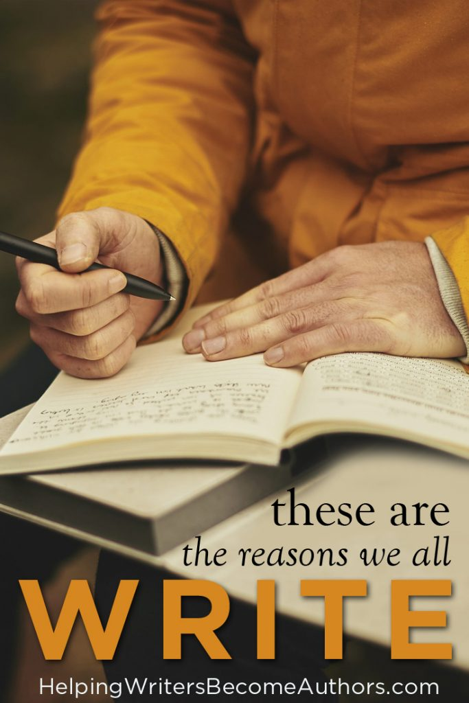 4 (Possible) Reasons Why We Write